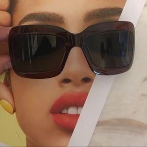 Dior light sunglasses brown EUC